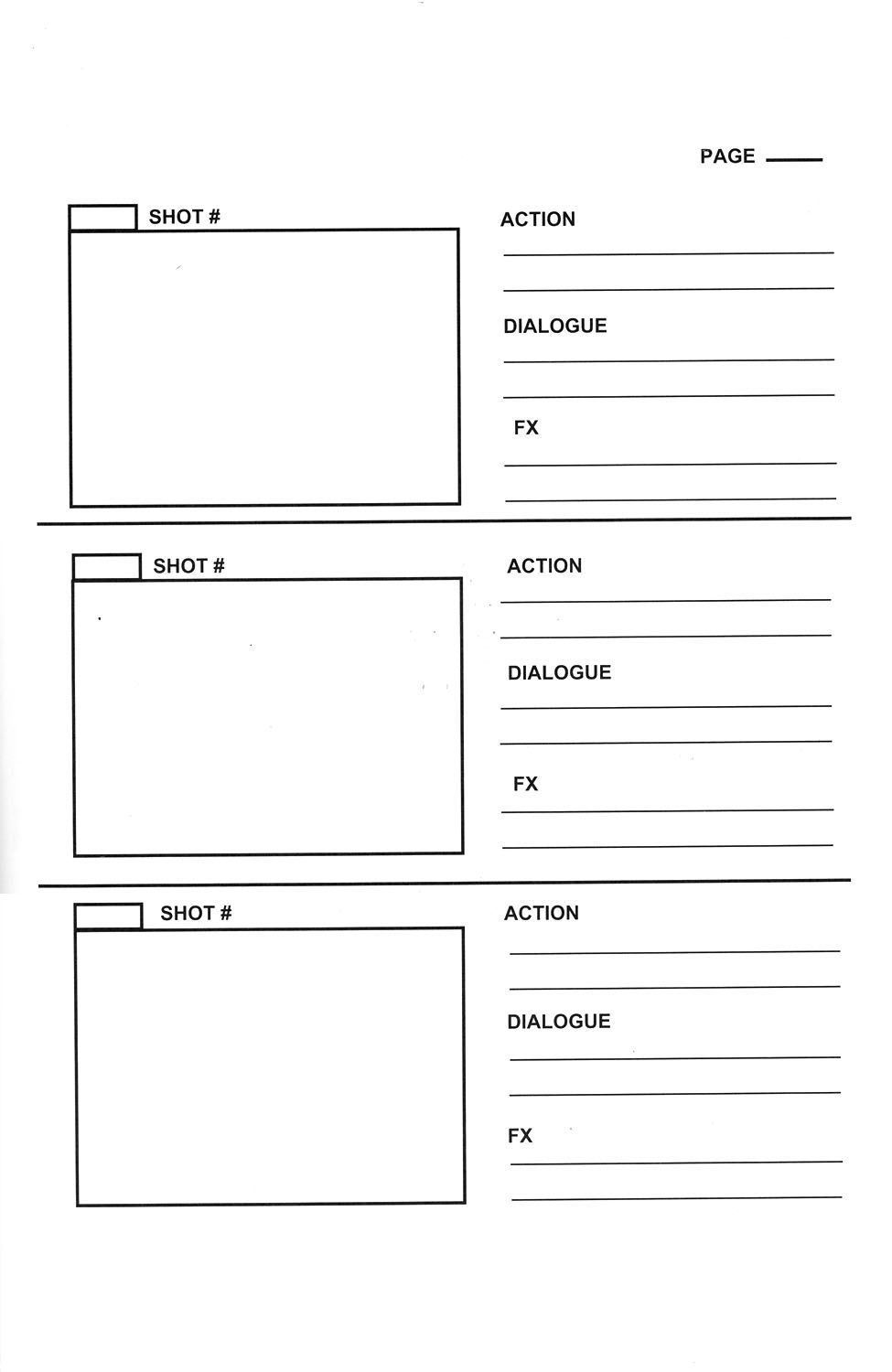 Storyboard templates pontydysgu mooc for Camera script template