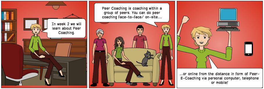 Peer Coaching Comic